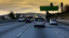 Freeway Traffic 101 In Hollywood Stock Footage