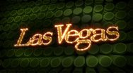 Las vegas - glitter sparkle text Stock Footage