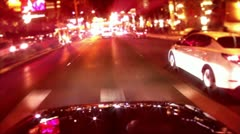 light reflections on car camera pov - stock footage