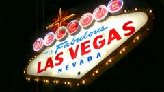 Welcome to fabulous las vegas nevada sign Stock Footage