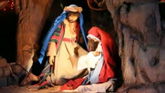 Stock Video Footage of Christmas Manger Scenen LDS Mary and Joseph 2