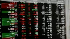 Stock market live quotes streaming financial data Stock Footage