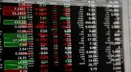 Stock Video Footage of stock market live quotes streaming financial data