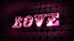 love glitz sparkle text - stock footage