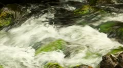 Clear, clean water flowing in a creek Stock Footage