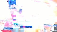 Video wall technology digital matrix Stock Footage