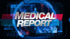 Medical Report - Main Title Graphic Stock Footage