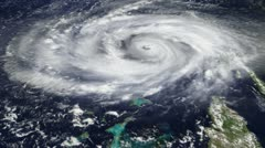 hurricane satellite view (hd) - stock footage
