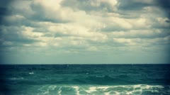 View of the atlantic ocean from the florida coast Stock Footage