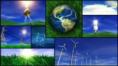 Green energy and nature montage Stock Footage