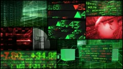 Stock Market & Financial Data Montage - stock footage