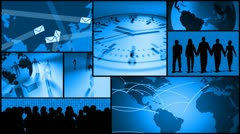 Business communication, time, travel montage Stock Footage