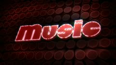 Music glitz sparkle text Stock Footage