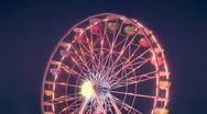 Stock Video Footage of ferris wheel carnival ride at night