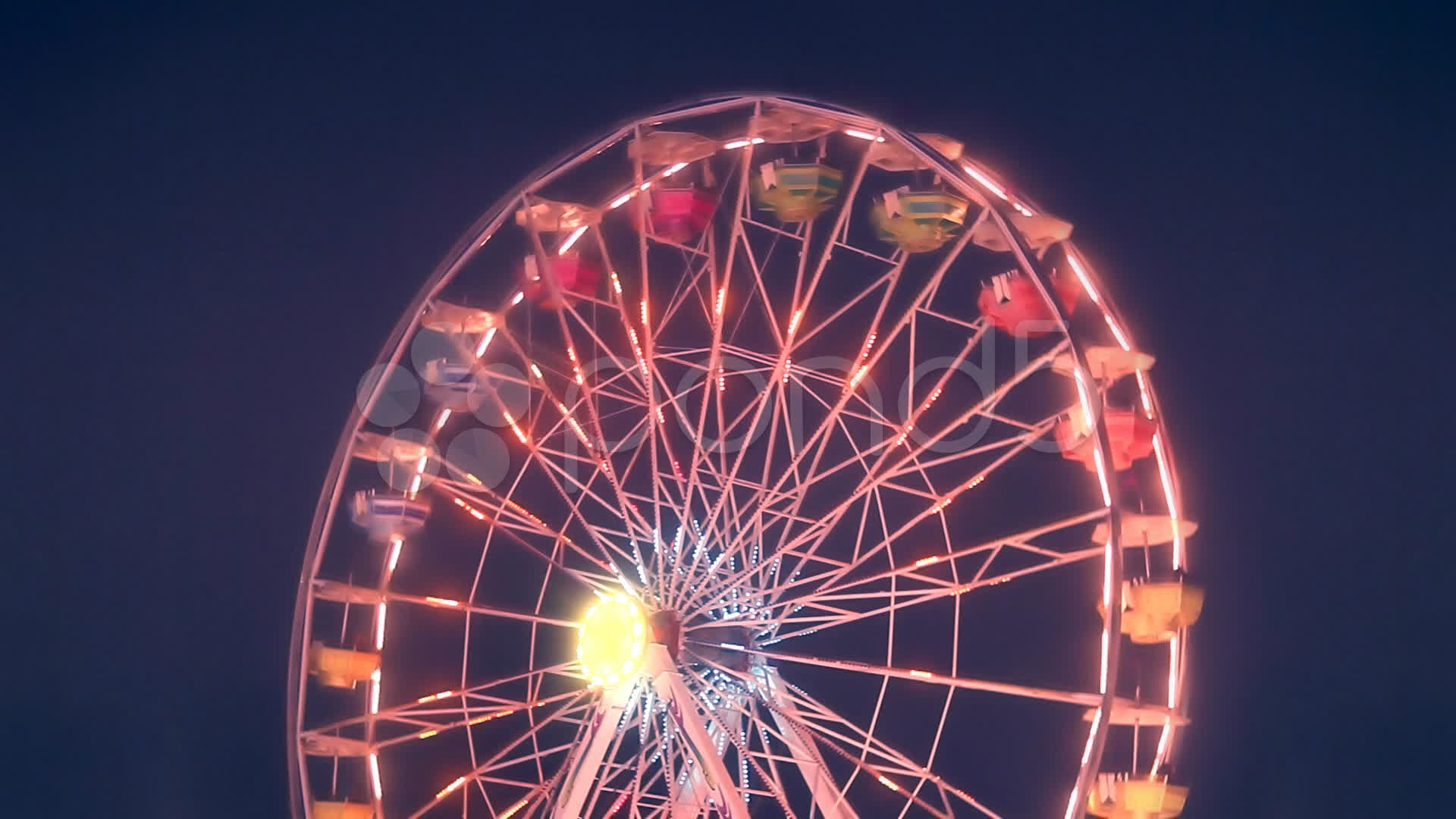 Ferris Wheel Carnival Ride At Night Stock Video 9916031