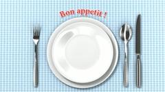 Bon appetit! HD Stock Footage