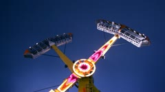 Carnival ride at midway (time-lapse) Stock Footage