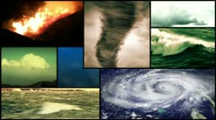 Storm Weather Montage Composition Stock Footage