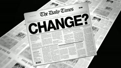 Stock Video Footage of change? - newspaper headline