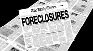 Foreclosures - newspaper headline Stock Footage