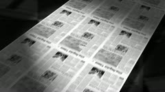 sold! - newspaper headline (intro + loops) - stock footage