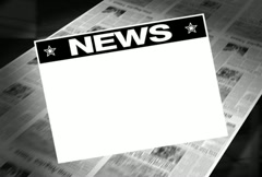 Stock Video Footage of News! - Newspaper Headline (Reveal + Loops) Animation