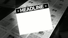 Newspapers headline - printing press Stock Footage