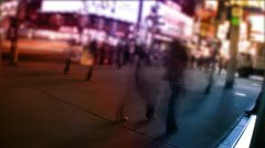 New York City streets, taxis, traffic & people Stock Footage