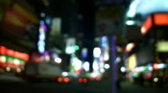 Defocused New York City Times Square City Lights Stock Footage