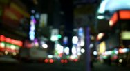 Stock Video Footage of defocused nyc times square city lights