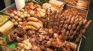 Taipei night market Stock Footage