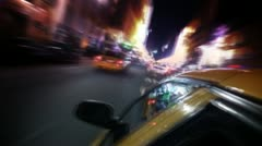 Stock Video Footage of New York City Traffic From Inside Taxi