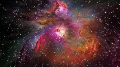 orion nebula (zoom into stars) - stock footage