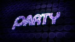 Party glitz sparkle text Stock Footage