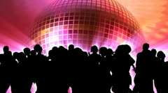 People dancing (3d vector animation) Stock Footage