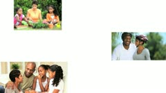 Montage Images of Modern Ethnic Family Lifestyle Stock Footage
