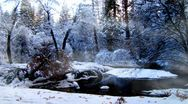 Stock Video Footage of Beautiful Winter Snow Scene With Misty Fog