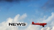 News airplane banner Stock Footage