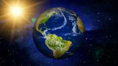 Planet Earth In Space (HD Loop) Stock Footage