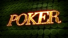 Poker - glitter sparkle text Stock Footage