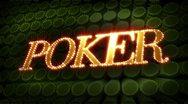 Poker - glitter sparkle text Stock Footage