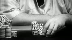 Poker players chips - close-up hd Stock Footage