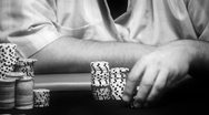 Stock Video Footage of poker players chips - close-up hd