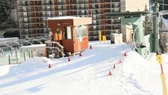 Ski Lift Snowboarding Ramp Snow Winter 1 - stock footage
