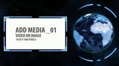 Stock After Effects of Space and Earth Media Panels 4