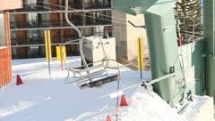 Ski Lift Snowboarding Ramp Snow Winter 2 - stock footage
