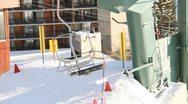 Ski Lift Snowboarding Ramp Snow Winter 2 Stock Footage