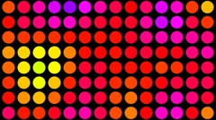 Psychedelic colored dots on black hd Stock Footage