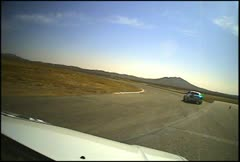 Race chase, on car camera Stock Footage