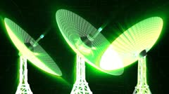 radioscopes satellite dishes - stock footage